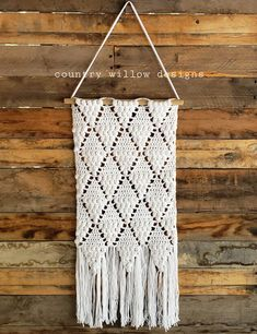 """Crochet Wall hangings. They are fun to make, look great as a home decor hanging and make an amazing gift! My daughters have many that are macrame, something I have yet to learn, but for now crocheting them will do. I thought I would share this with you all, so you can experience this DIY project and make your own.        #element-e87adfe0-3d87-416e-9241-7801192d5c35 .h1 {  content: """"h1"""";  display: block;}#element-e87adfe0-3d87-416e-9241-7801192d5c35 .h2 {  content: """"h2"""";  display: block;}# Make Your Own, Make It Yourself, How To Make, Crochet Wall Hangings, Crochet Patterns, Crochet Stitches, Crochet Scarves, Crochet Hats, Making A Gift Basket"""
