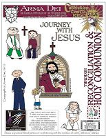 Have a First Communicant this year? I do! Oh, the things we'll learn...Journey with Jesus Cathletics Craft Kits | Equipping Catholic Families