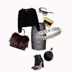 Per affrontare con grinta il freddo inverno un tocco di animalier e gioielli Luca Barra. #outfit #lookanimalier #consiglidistile #lucabarragioielli #musthave