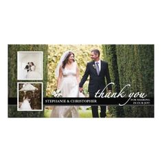 Shop Timeless Chic Wedding Thank You Three Photo Card created by kat_parrella. Personalize it with photos & text or purchase as is! Thank You Photos, Love Photos, Photo Wedding Invitations, Elegant Wedding Invitations, Invites, Wedding Stationary, Create Your Own Invitations, Wedding Thank You Cards, Chic Wedding