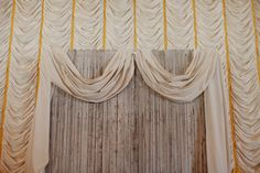10 Beautiful, Alternative Wedding Backdrops  #refinery29  http://www.refinery29.com/wedding-decor#slide1  Have some old barn wood on your hands? Use it to create a rustic-chic DIY backdrop.