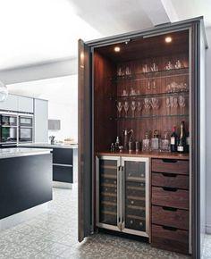 Kitchen with wine bar design wine bar cabinet designs small home bar design ideas cabinet modern . Home Bar Decor, Bar Cart Decor, Home Bar Cabinet, Drinks Cabinet, Modern Bar Cabinet, Crockery Cabinet, Home Wine Cellars, Appartement Design, Built In Bar