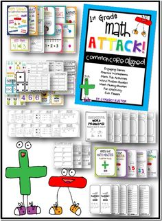 219 pages of First Grade Common Core (Addition and Subtraction) Activities, Games, Assessments, and MORE!  Great for new teachers.  (From Lyndsey Kuster / Blog:  A Year of Many Firsts)
