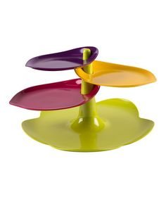 Take a look at this Large Leaf Three-Tier Dessert Stand by Zak Designs on #zulily today!