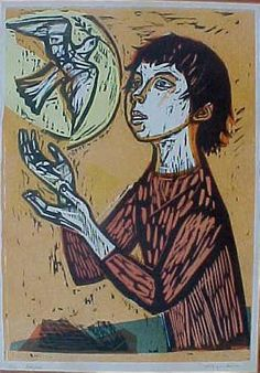 'hope' woodcut by irving amen