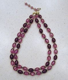 SUPER Jewelry SALE Vintage Hong Kong Purple Beaded Necklace 1960s 10% Discount by BESTBUYONLINES, $8.00  SOLD