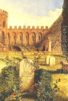 William Bell Scott's version of Keats' grave, same.
