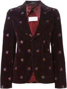 Maison Margiela embroidered velvet blazer