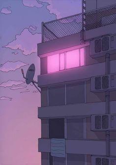Unknown aesthetic anime, aesthetic art, purple aesthetic, pixel art, arte p Purple Aesthetic, Aesthetic Anime, Aesthetic Art, Vaporwave, Art Anime, Anime Scenery, Psychedelic Art, Aesthetic Wallpapers, Pixel Art