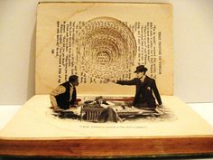 """Prove It,"" by jennifer Khoshbin, 2009, cut book. Carving Culture: Sculptural Masterpieces Made from Old Books 