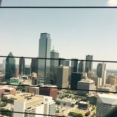 Dallas TX - view from reunion tower. Read about all the great food you can find here!