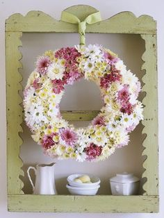 23 Best Easter Flowers and Centerpieces - Floral Arrangements for Your Easter Table Easter Flower Arrangements, Easter Flowers, Floral Arrangements, Fresh Wreath, Floral Foam, Easter Table, Easter Eggs, Easter Crafts, Easter Decor
