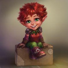 ArtStation - Another one red-hair cutie, Anna Anikeyka