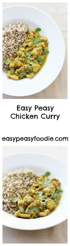 This Easy Peasy Chicken Curry is quick to prepare, uses only a handful of ingredients and tastes fabulous. It's much healthier than a takeaway and, dare I say it, even tastier than many takeaway chicken curries I have had. #chickencurry #easychickencurry #chicken #curry #sirtfood #sirtfooddiet #sirtfoodcurry #sirtfoodchickencurry #sirtfoodrecipes #makeahead #glutenfree #dairyfree #easymidweekmeals #midweekmeals #dinnertonight #dinnertonite #familydinners #familyfood #easypeasyfoodie Midweek Meals, Easy Chicken Curry, Healthy Recipes, Curry Recipes, Free Recipes, Healthy Food, Healthy Meals, Keto Recipes, Healthy Eating
