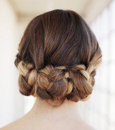 Gorgeous triple braided bun.