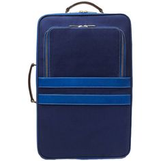 Corroon Pullman Navy Rolling Carry-on Suitcase By (730 CAD) ❤ liked on Polyvore featuring bags, luggage and handbags