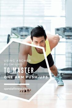 Push Ups are a great way of training using your own bodyweight. Make it more challenging by learning how to do Archer Push Ups, a single arm push up technique - QandA Fitness - #fitness #pushups #exercises