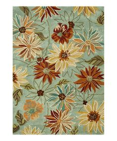 Take a look at this Blue Floral Bloom Rug by Loloi Rugs on #zulily today!