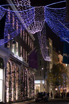 Christmas in New Bond Street, Westminster, London