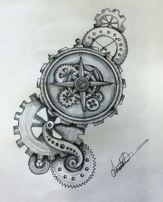 51 Ideas Tattoo Compass Drawing Clock For 2019 Clock Tattoo Design, Wolf Tattoo Design, Tattoo Designs, Tattoo Ideas, Vine Tattoos, Body Art Tattoos, Sleeve Tattoos, Zodiac Tattoos, Clock Tattoos