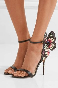Sophia Webster | Chiara embroidered satin and leather sandals | NET-A-PORTER.COM