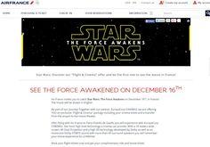 L'offre d'Air France pour voir Star Wars VII en avance perçoit un petit problème