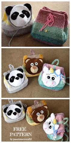 Great No Cost Crochet for kids unicorn Tips Velvet Unicorn Backpack Free Crochet Pattern Purse Patterns Free, Crochet Purse Patterns, Knitting Patterns, Crochet Backpack Pattern, Kids Knitting, Pattern Sewing, Crochet Handbags, Crochet Purses, Crochet For Kids