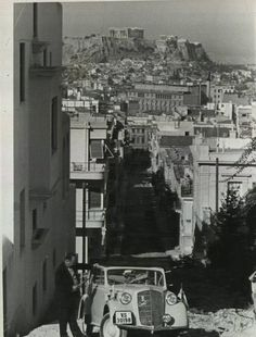 1950 ~ Athens. I find this cool. My Mom's view of Athens at the age of 15.
