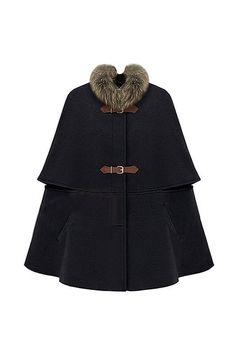furry black cape