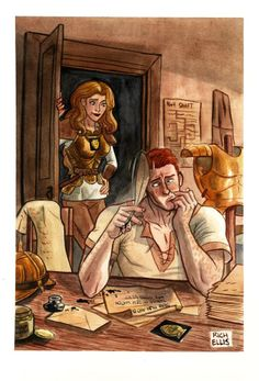 Best image I've seen so far, for Angua Von Ubervald & Carrot Ironfoundersson