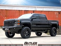 Chevrolet Silverado with 20in DPR Stealth Wheels