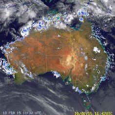 National Radar image:     13:12 UTC  Tue 10 Feb 2015