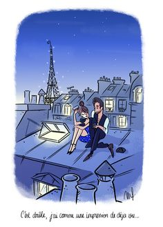 Cliché sur les toits de Paris <3