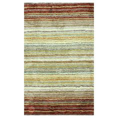 nuLOOM Striped Shaggy Rug - Red