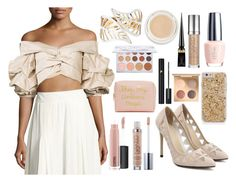 """""""Johanna Ortiz Beige 'Mestizo' Off Shoulder Top"""" by oliviaboston ❤ liked on Polyvore featuring Johanna Ortiz, rms beauty, MAC Cosmetics, Urban Decay, Forever 21, Christian Louboutin and Lancôme"""