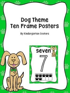 There are 11 number posters to go along with my Dog Theme Products. These posters all have the number, number word, ten frames with paw prints, and a dog. Coordinating Products:Dog Theme 10 Frame PostersDog Theme Table NumbersDog Theme Desk PlatesPaw Print Color Posters For Your Dog or Cat Theme ClassroomDog Theme Behavior Clip ChartDog Theme Classroom RulesDog Theme Word Wall Letters and 100 coordinating Fry CardsDog Theme Locker Numbers…