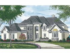 New American House Plan with 2956 Square Feet and 4 Bedrooms from Dream Home Source | House Plan Code DHSW05341