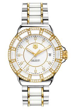 TAG Heuer 'Formula 1' Two-Tone Diamond Bracelet Watch available at #Nordstrom