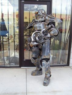 T45d power armor with minigun fallout cosplay