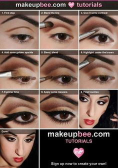 eye makeup   step by step makeup is like a work of art think of ur face as a canvas an ur makeup as paint
