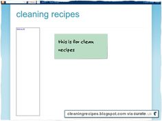 Clipped from cleaningrecipes.blogspot.com