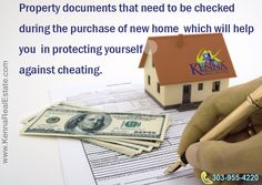 Property documents that need to be checked... www.KennaRealEstate.com #Home, #Buy, #Check, #Documents.