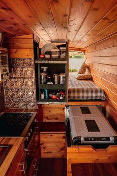 Camper vans are getting more and more popular. And it's not a surprise why. Having a camper van you are able to travel more often and spontaneous because you don't … Diy Camper Trailer, Car Camper, Camper Life, Camper Van, Sprinter Camper, Campervan Interior, Truck Interior, Interior Ideas, Van Conversion Layout