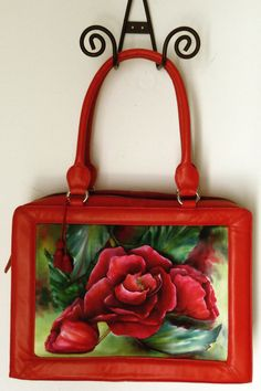 Awesome red handpainted bag!    https://www.etsy.com/listing/165944275/saleunique-gift-for-her-hand-painted