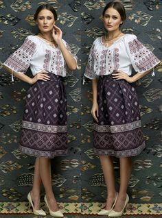 peasant blouse romanian blouse La Blouse Roumaine peasant handmade blouse… Traditional Skirts, Traditional Outfits, Folk Fashion, Ethnic Fashion, Bohemian Blouses, Ukraine, Folk Costume, Peasant Blouse, Embroidery Dress