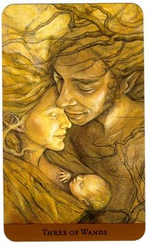 Three of Wands- Tarot of the Hidden Realm
