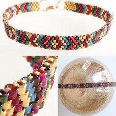 The Leather Wrap Bracelet Bead Loom Bracelets, Peyote Beading, Peyote Patterns, Bracelet Patterns, Beading Patterns, Diy Jewelry, Beaded Jewelry, Jewelery, Macrame Bracelets
