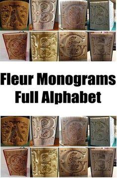 Fleur Monograms Cut and Fold Book Folding Patterns - Full Alphabet