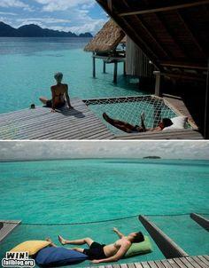 cool idea--hammock built in to deck