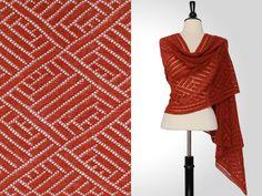 Steve Rousseau Designs • Oliver Rectangular Shawl • Knitting Pattern • Shibui Knits Pebble Brick